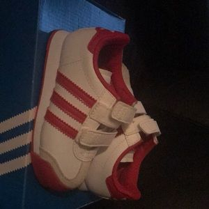 Toddler 8k Red and White New Adidas Shoes